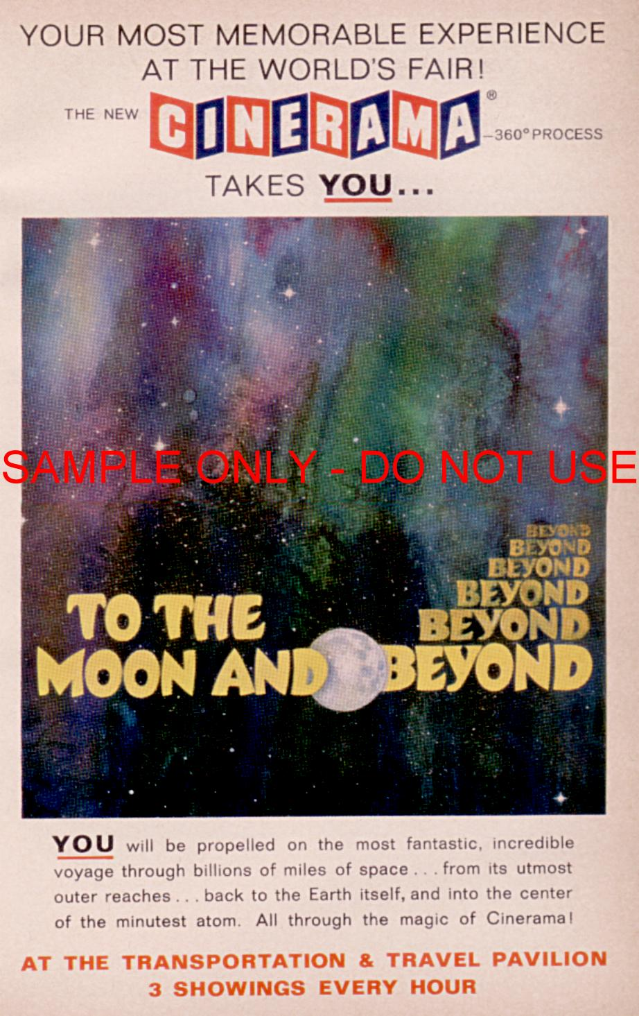 Cinerama To The Moon ad