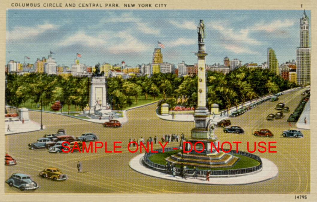 Columbus Circle Central Park entrance