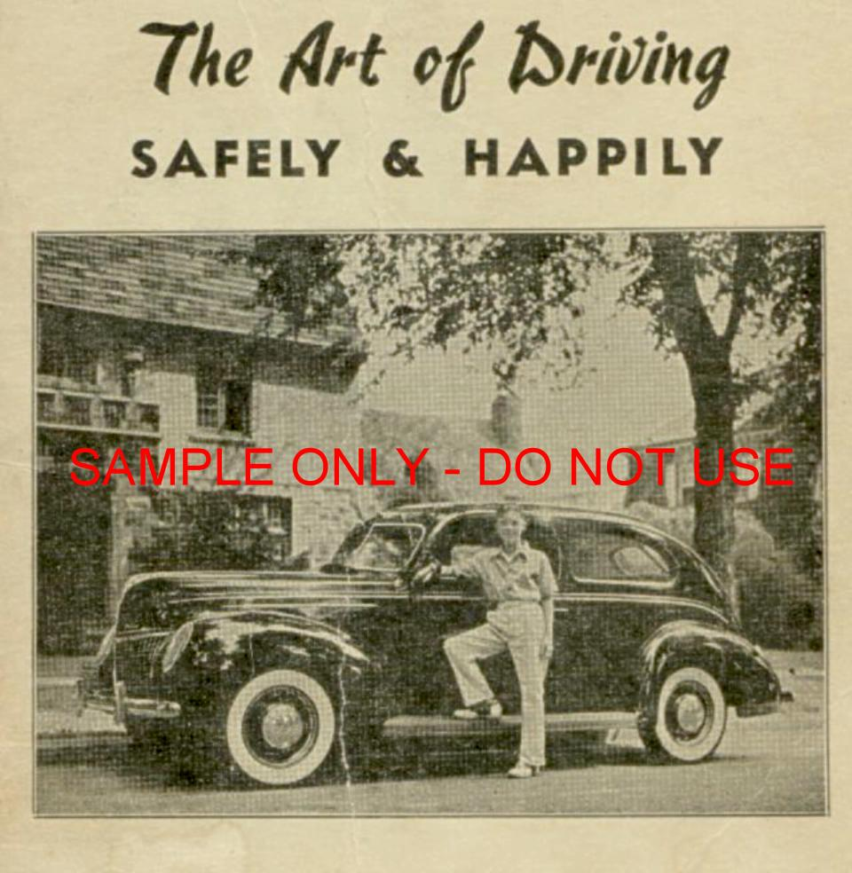 1941 Driving Instruction booklet