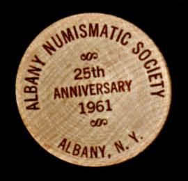 Albany Coin Club wooden nickel