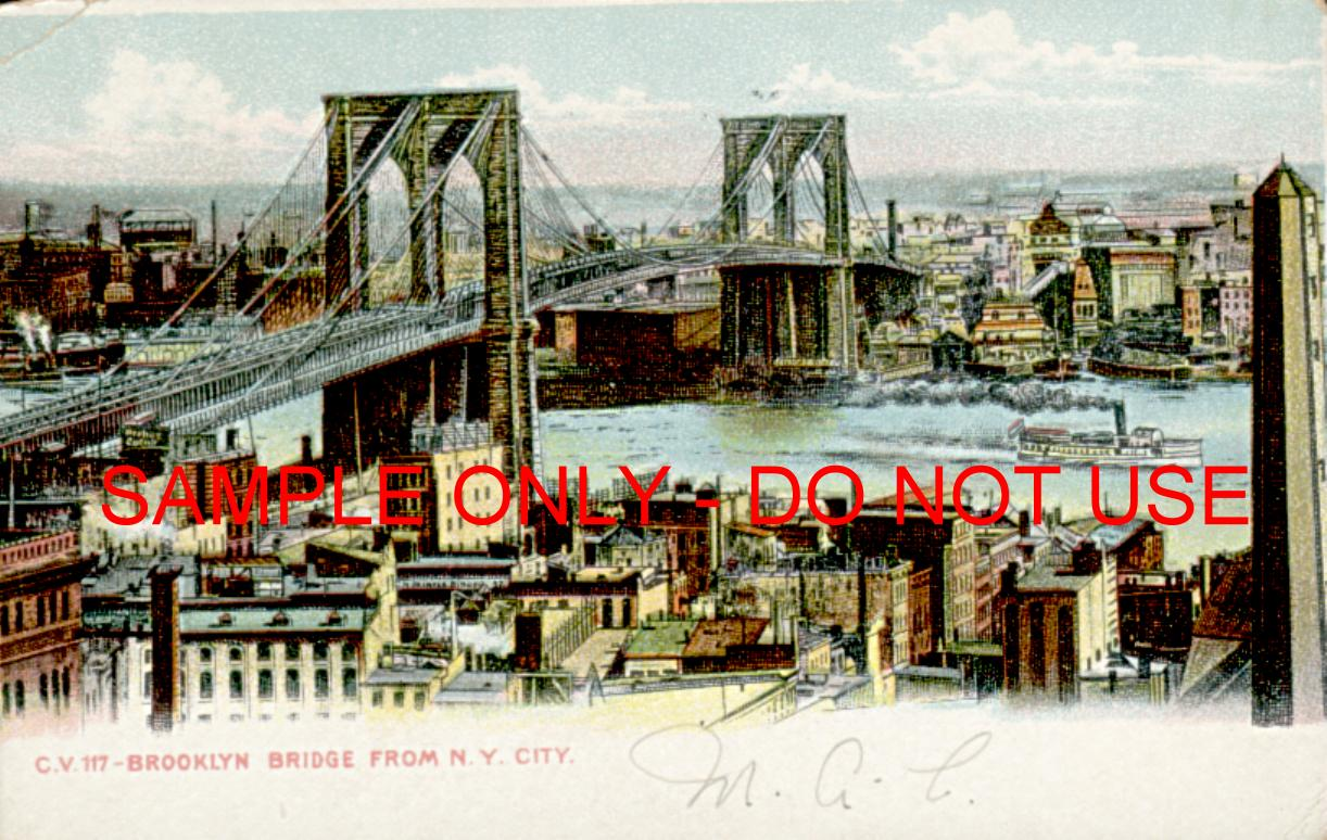 Brooklyn Bridge from Manhattan 1915