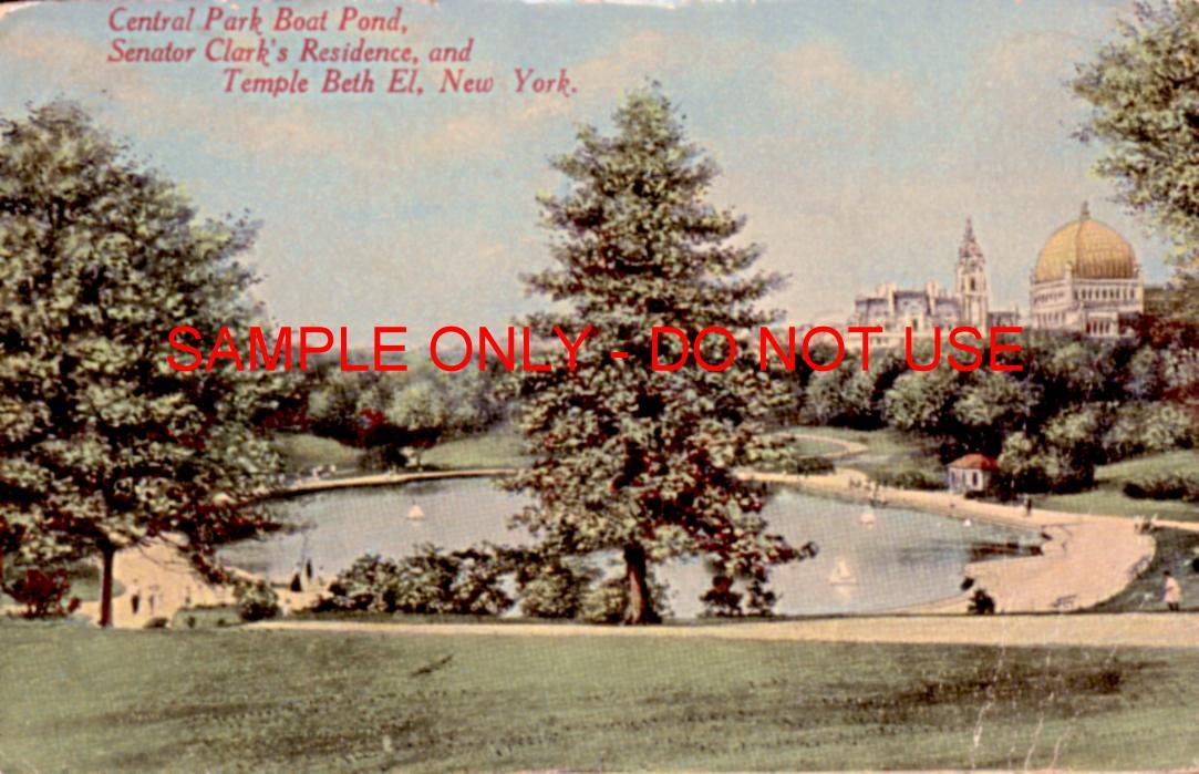 Central Park Beth El 1915