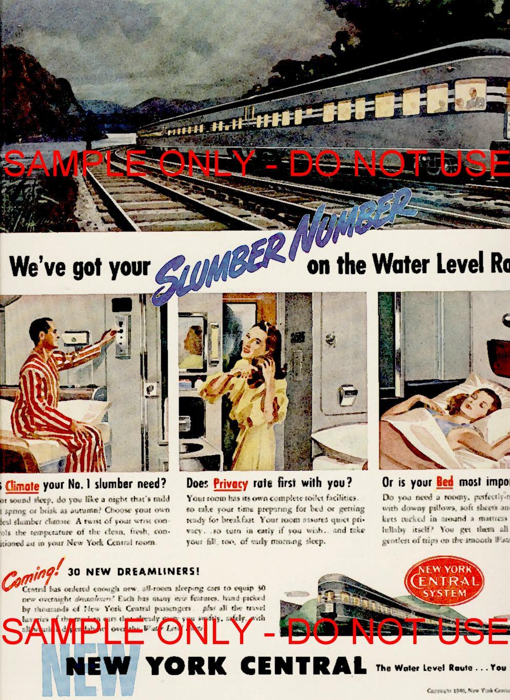 NY RailRoad poster 1940s