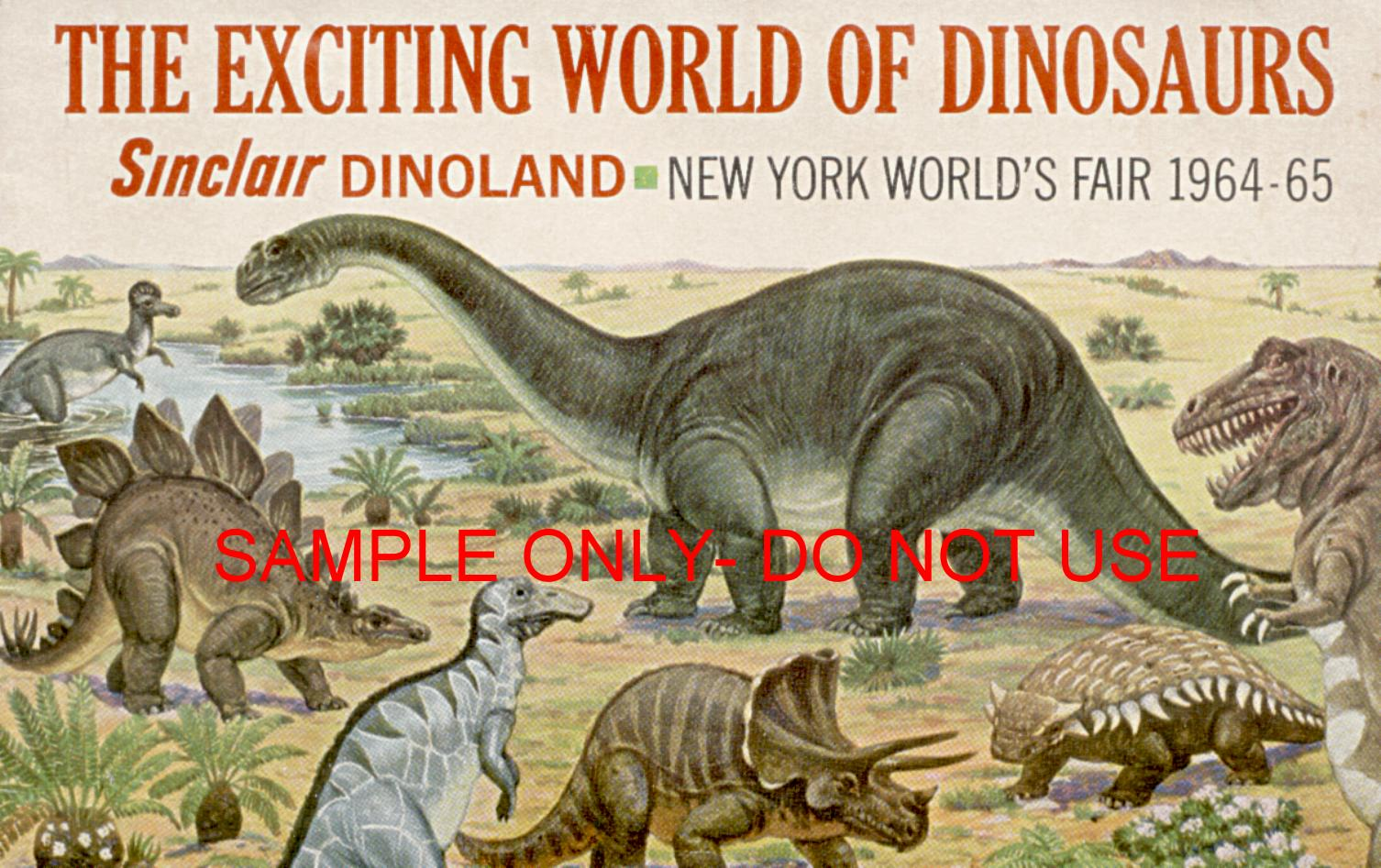 1964 Sinclair Dinoworld booklet