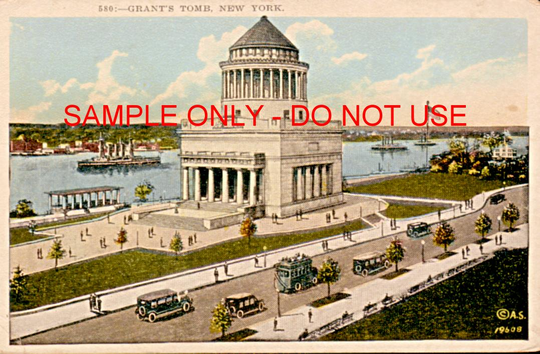 Grants Tomb with Traffic 1930